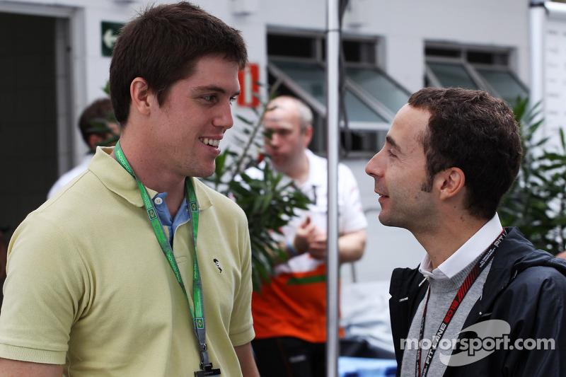 (L to R): Luiz Razia, with Nicolas Todt, Driver Manager