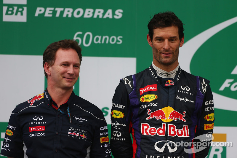 Christian Horner, Chefe de equipe da Red Bull Racing, e Mark Webber, da Red Bull Racing