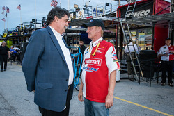 NASCAR President Mike Helton and Eddie Wood