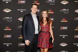 Kyle Busch and wife Samantha Busch at the NASCAR Evening Series