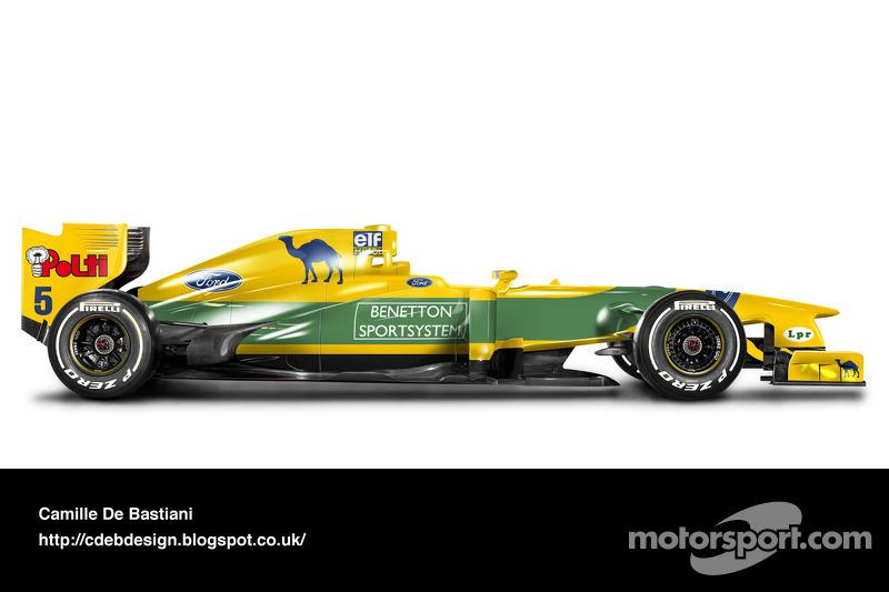 Carro de F1 retrô - Benetton 1993