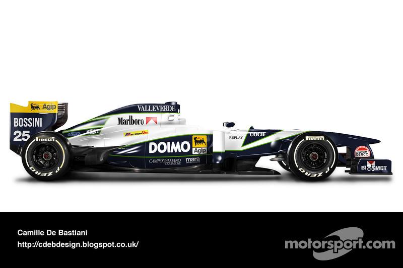 Formel-1-Auto im Retrodesign: Minardi 1995