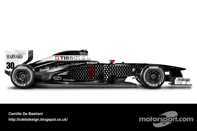 Carro de F1 retrô - Sauber 1994