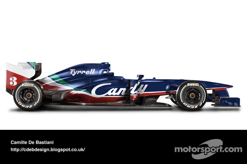 Formel-1-Auto im Retrodesign: Tyrrell 1980