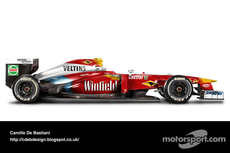 Formel-1-Auto im Retrodesign: Williams 1999