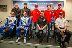 Chip Ganassi Racing press conference: Chip Ganassi, Jamie Allison from Ford Racing, Tony Kanaan, Kyle Larson, Marino Franchitti, Scott Pruett, Memo Rojas, Jamie McMurray, Sage Karam