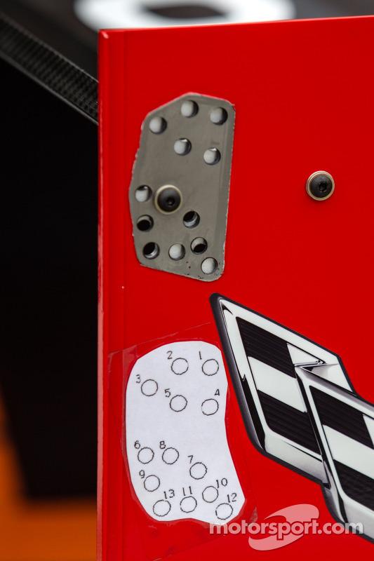 #90 Spirit Of Daytona Corvette DP Chevrolet: detalhe da asa traseira
