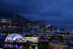 Overview of the Monaco harbour