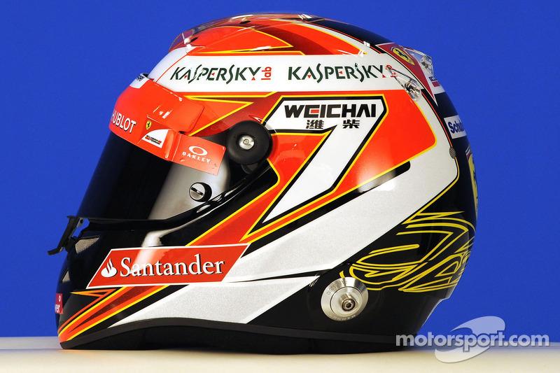 Casco de Kimi Raikkonen, Scuderia Ferrari