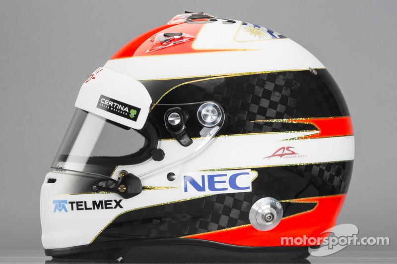 Il casco di Adrian Sutil, Sauber F1 Team