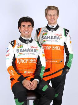 Nico Hulkenberg y Sergio Pérez, Sahara Force India F1