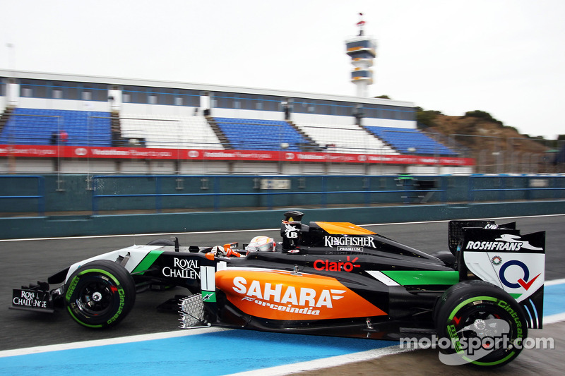 Daniel Juncadella, Sahara Force India F1 VJM07 Test and Reserve Driver leaves the pits