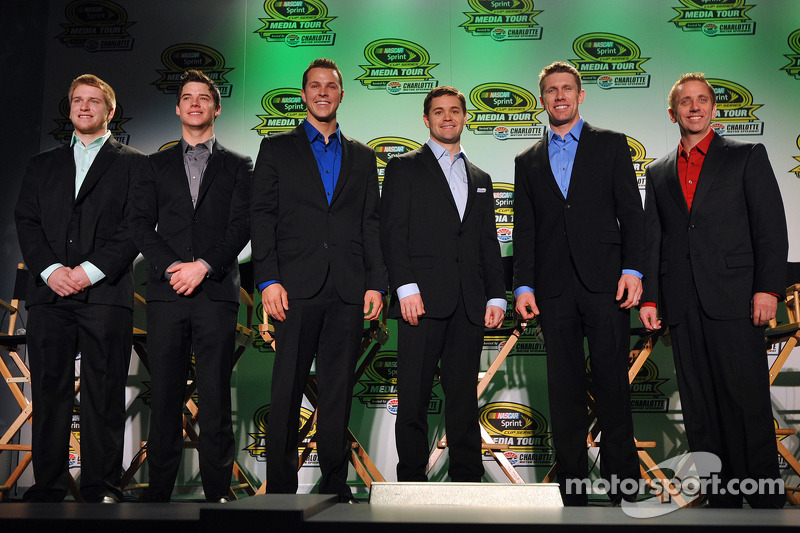 Chris Buescher, Ryan Reed, Trevor Bayne, Ricky Stenhouse Jr., Carl Edwards ve Greg Biffle
