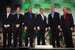 Chris Buescher, Ryan Reed, Trevor Bayne, Ricky Stenhouse Jr., Carl Edwards and Greg Biffle