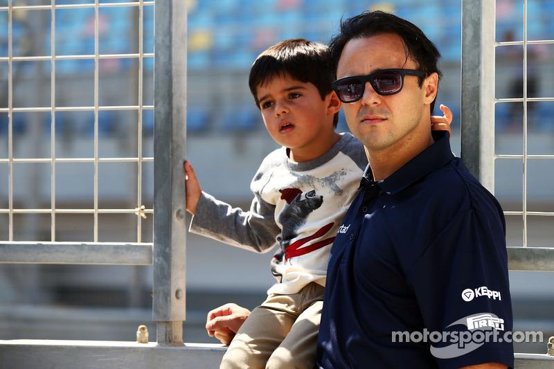 Felipe Massa, Williams with his son Felipinho