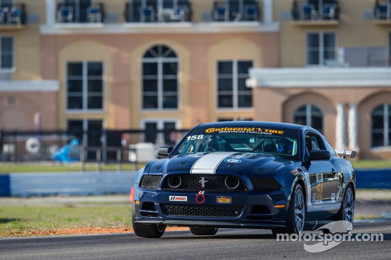 #158 MultiMattic Motorsports Mustang Boss 302 R: Ian James, Billy Johnson