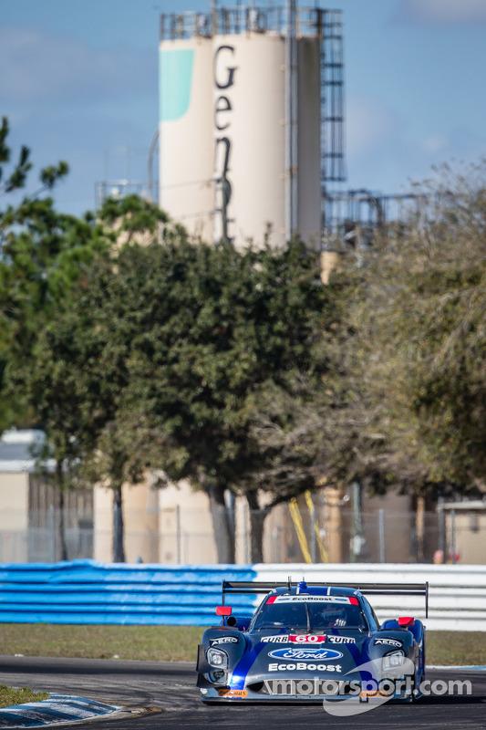 #60 Michael Shank Racing, com Curb/Agajanian Riley DP Ford EcoBoost: John Pew, Oswaldo Negri, Justin Wilson