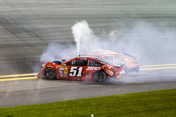 Trouble for Justin Allgaier, HScott Motorsports Chevrolet