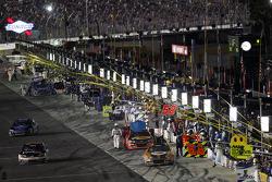 Bobby Labonte, HScott Motorsports Chevrolet, Denny Hamlin, Joe Gibbs Racing Toyota, Tony Stewart, Stewart-Haas Racing Chevrolet, Ricky Stenhouse Jr., Roush Fenway Racing Ford