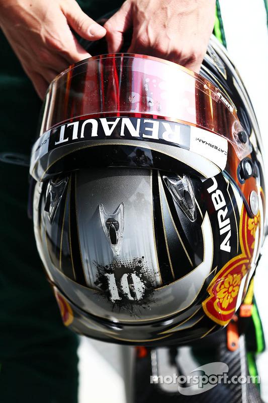O capacete de Kamui Kobayashi, Caterham