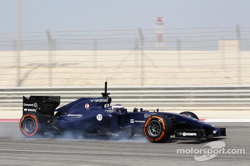 Valtteri Bottas, Williams FW36. blocca le ruote in frenata