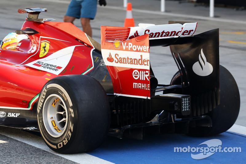 Fernando Alonso, Ferrari F14-T arka kanat detayı