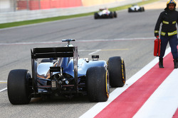 Valtteri Bottas, Williams FW36 stops on the start/finish straight