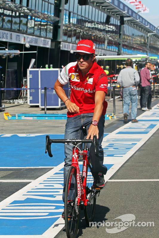 Fernando Alonso, Ferrari pedala