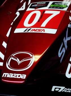 Detail of the #07 SpeedSource Mazda Mazda: Tristan Nunez, Joel Miller, Tristan Vautier