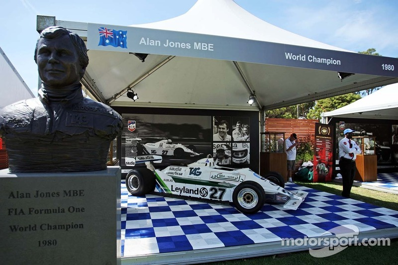 A display for 1980 World Champion Alan Jones (AUS)