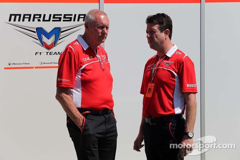 John Booth, Marussia F1 Team, Team Principal e Dave O 'Neill, Marussia F1 Team Manager 13