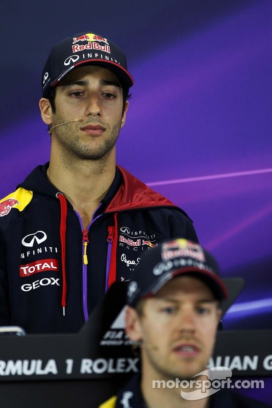 Daniel Ricciardo, Red Bull Racing e Sebastian Vettel, Red Bull Racing