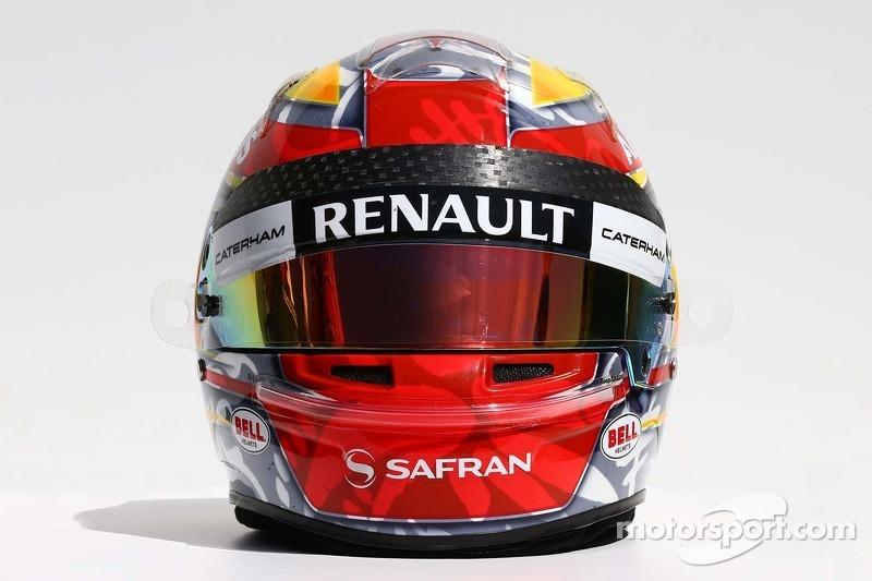 Il casco di Robin Frijns, Caterham tester e pilota di riserva