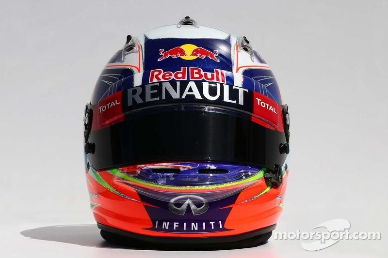 Il casco di Daniel Ricciardo, Red Bull Racing