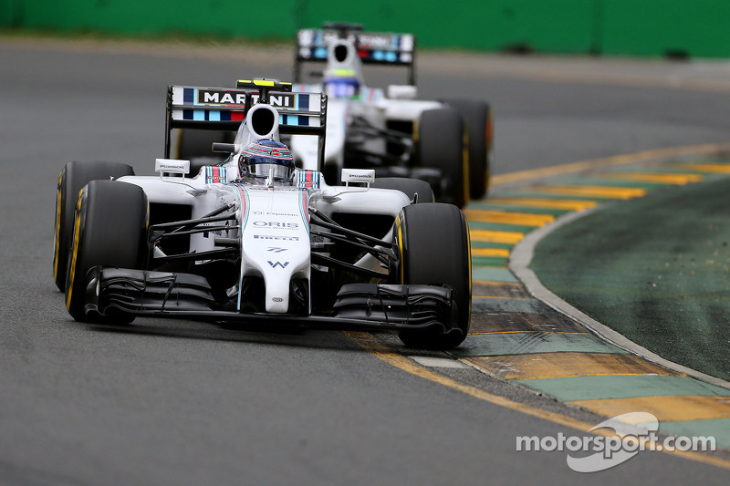 Valtteri Bottas, Williams F1 Team e Felipe Massa, Williams F1 Team