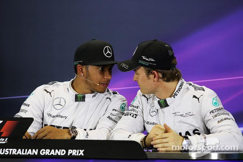 Miradas desafiantes en el GP de Australia de 2014