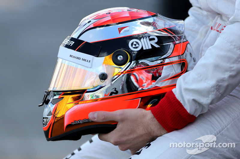 Helmet Of Jules Bianchi Marussia F1 Team At Australian Gp