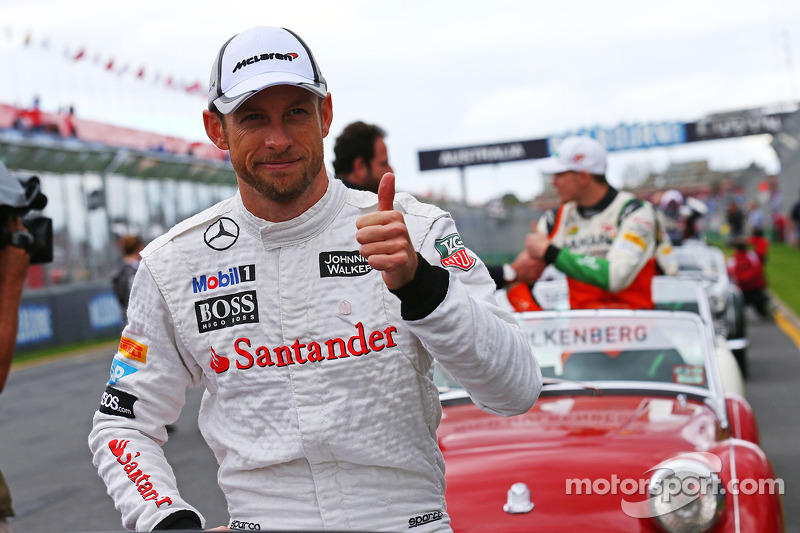 Jenson Button, McLaren alla parata dei piloti