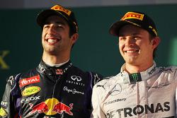 The podium, Red Bull Racing with race winner Nico Rosberg, Mercedes AMG F1