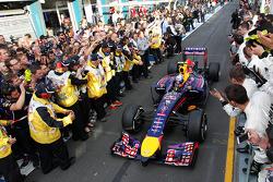 Parc Ferme: 2. Daniel Ricciardo, Red Bull Racing RB10