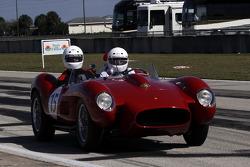 HoF Charity Laps: Derek Bell drives the Ferrari 250 Testa Rossa