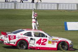 Race winner Kyle Larson