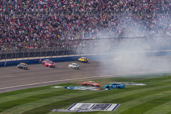 Trouble for Aric Almirola and Brian Scott