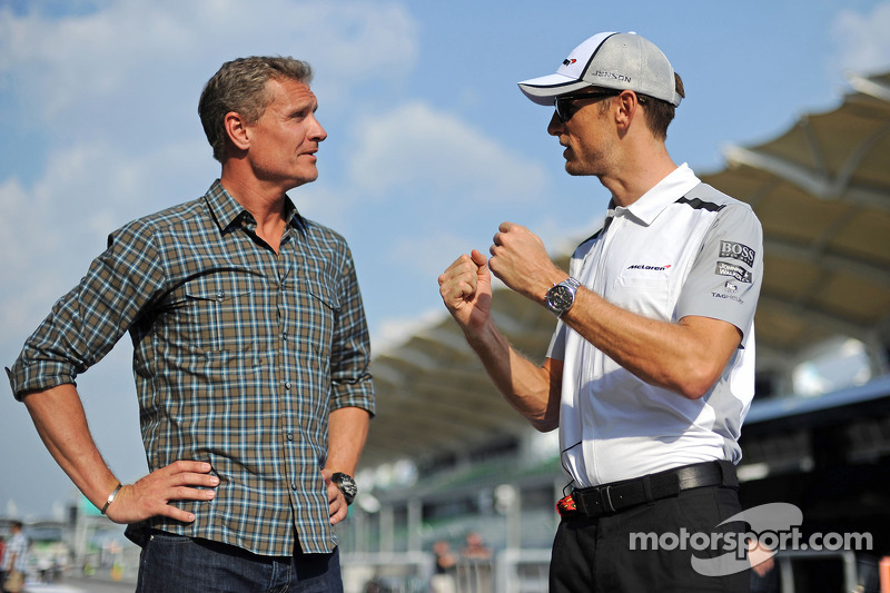 (L to R): David Coulthard, Red Bull Racing and Scuderia Toro Advisor / BBC Television Commentator wi