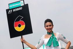 Nico Rosberg (GER), Mercedes AMG F1 Team, grid girl 30