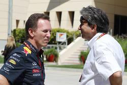 (Esquerda para direita): Christian Horner, chefe de equipe da Red Bull com Pasquale Lattuneddu, da FOM