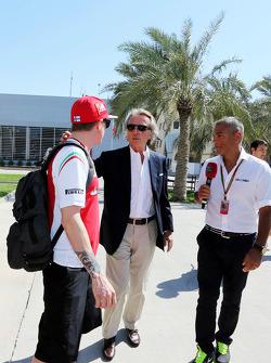 Kimi Raikkonen, Ferrari with Luca di Montezemolo, Ferrari President