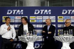 Bernd Schneider, Frank Biela, Volker Strycek and Hans Werner Aufrecht, Team Chef HWA, ITR President