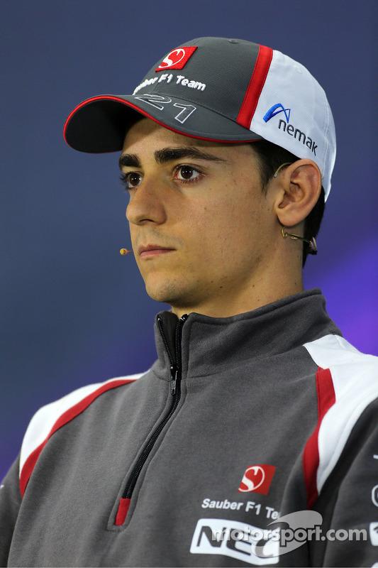 Esteban Gutierrez, Sauber F1 Takımı basın konferansında