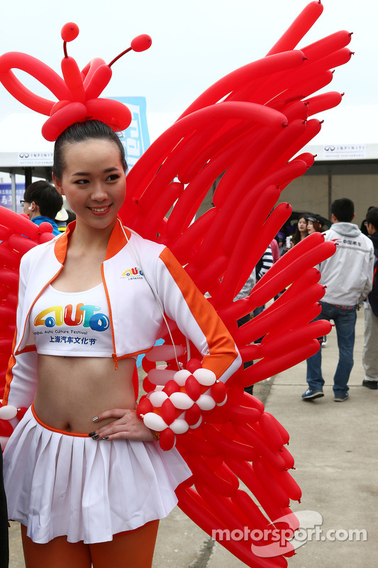 A promotional girl.